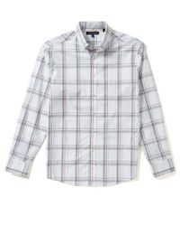 Vince Camuto | White Long-sleeve Pique Plaid Woven Shirt for Men | Lyst