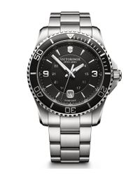 Victorinox | Metallic Maverick Luminous Analog Bracelet Watch for Men | Lyst