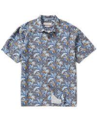 Tommy Bahama | Blue Short-sleeve Tropicalia Floral Garden Palm Print Woven Shirt for Men | Lyst