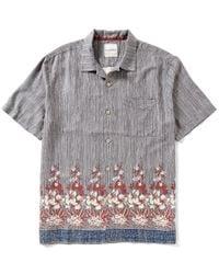 Tommy Bahama | Gray Short-sleeve Brazilian Striped Floral Border Print Woven Shirt for Men | Lyst