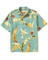 Tommy Bahama | Green Short-sleeve Copabanana Woven Shirt | Lyst
