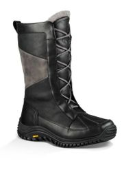 UGG | Black ® Mixon Lace Up Cold Weather Boots | Lyst