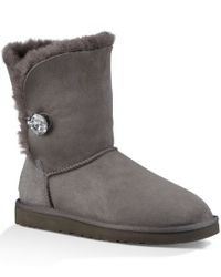 UGG | Gray ® Bailey Button Bling Boots | Lyst