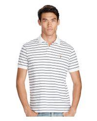 Polo Ralph Lauren | White Horizontal Striped Pima Soft-touch Polo Shirt for Men | Lyst