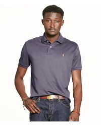 Polo Ralph Lauren   Purple Pima Soft-touch Short-sleeve Polo Shirt for Men   Lyst