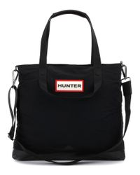 HUNTER - Black Original Nylon Moustache Messenger Bag for Men - Lyst