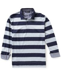 Brooks Brothers | Blue Stripe Gent Rugby Long-sleeve Polo Shirt for Men | Lyst