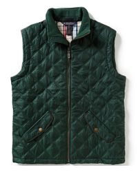 Brooks Brothers | Green Diamond Quilted Vest for Men | Lyst