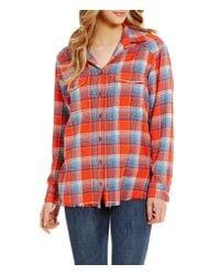 Billabong | Red Wild Adventure Plaid Flannel Shirt | Lyst