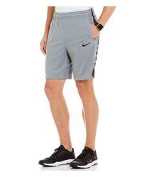 Nike   Gray Elite Dri-fit Basketball Shorts for Men   Lyst