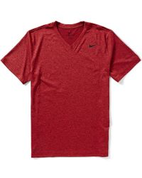 Nike | Red Legend 2.0 Dri-fit Training V-neck Tee for Men | Lyst