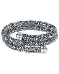 Swarovski   Gray Crystal Dust Bangle Bracelet   Lyst
