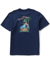 Tommy Bahama - Blue Big & Tall Line Dancing Short-sleeve Graphic Tee for Men - Lyst