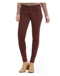 Miss Me Red 5-pocket Mid-rise Skinny Jeans