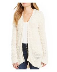 Billabong   White All For You Textured-stripe Cozy Cardigan   Lyst