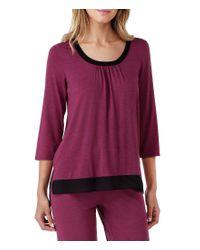 DKNY   Purple Jersey Knit Sleep Top   Lyst