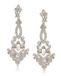 Carolee | Metallic Wall Street Drop Clip-on Statement Earrings | Lyst