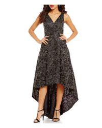 Calvin Klein | Black Embroidered Soutache Hi-low Dress | Lyst