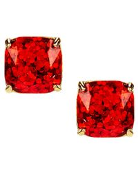 kate spade new york | Multicolor Glitter Small Square Stud Earrings | Lyst
