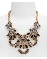 Belle By Badgley Mischka - Metallic Multi-stone Statement Necklace - Lyst
