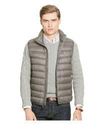Polo Ralph Lauren   Gray Men's Big & Tall Packable Down Vest for Men   Lyst