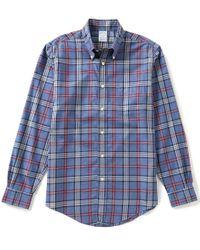 Brooks Brothers   Blue Non-iron Tartan Regent-fit Long-sleeve Woven Shirt for Men   Lyst