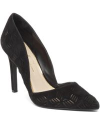 Jessica Simpson | Black Charie Suede Cutout Pointed-toe Pumps | Lyst