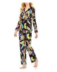 Lauren by Ralph Lauren   Black Paisley Sateen Classic Pajamas   Lyst