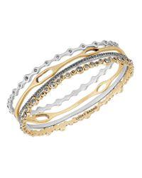 Lucky Brand - Metallic Pebble 4-piece Bangle Bracelet Set - Lyst