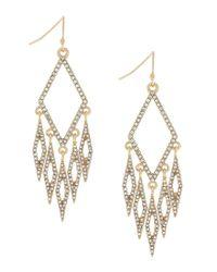 Jessica Simpson | Metallic Dancing In The Moonlight Pavé Chandelier Earrings | Lyst