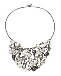 Kenneth Cole | Metallic Stone Wire Statement Collar Necklace | Lyst