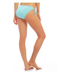Bikini Lab - Multicolor Take It Or Weave It Crochet String Tie Side Bottom - Lyst