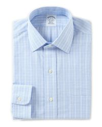 Brooks Brothers | Blue Non-iron Regent Fitted Classic-fit Spread Collar Plaid Dress Shirt for Men | Lyst
