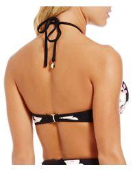 kate spade new york Black Posey Grove High Neck Bikini Top