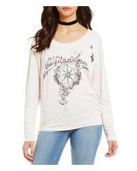 William Rast | Multicolor Veruca Day Dreamer Graphic Sweatshirt | Lyst