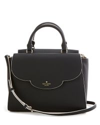 kate spade new york | Black Leewood Place Collection Makayla Scalloped Satchel | Lyst