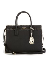 kate spade new york - Black Cameron Street Collection Snake Candace Satchel - Lyst