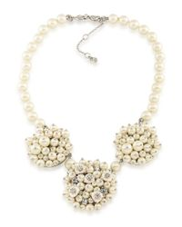 Carolee | Metallic 21 Club Mother-of-pearl Cluster Statement Necklace | Lyst