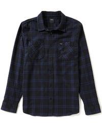 RVCA   Black Payne Plaid Long-sleeve Shirt for Men   Lyst