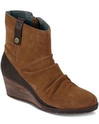 The North Face   Brown Women ́s Bridgeton Waterproof Wedge Zip Boot   Lyst