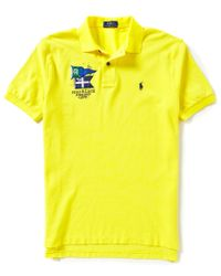 Polo Ralph Lauren | Yellow Crest Short-sleeve Solid Polo Shirt for Men | Lyst