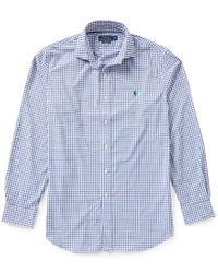 Polo Ralph Lauren | Blue Polo Golf Performance Check Twill Long-sleeve Woven Shirt for Men | Lyst