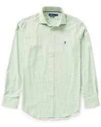 Polo Ralph Lauren | Green Polo Golf Performance Check Twill Long-sleeve Woven Shirt for Men | Lyst