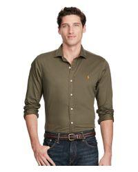 Polo Ralph Lauren | Green Solid Twill Estate Long-sleeve Woven Shirt for Men | Lyst