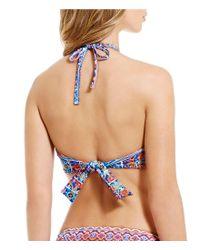 La Blanca - Blue Corsica Tile High Neck Crochet Bra Top - Lyst