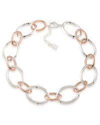 Lauren by Ralph Lauren | Metallic Rose Chic Oval-link Collar Necklace | Lyst