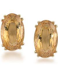 Carolee | Metallic Cosmopolitan Club Stud Earrings | Lyst