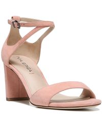 Via Spiga | Multicolor Wendi Ankle Strap Suede Block Heel Dress Sandals | Lyst