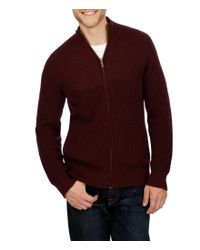 Lucky Brand | Red Washed Out Ribbed Mockneck Sweater for Men | Lyst