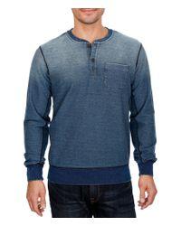 Lucky Brand   Blue Indigo-dyed Long-sleeve Pocket Henley for Men   Lyst